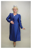 Blue Jacket with Organza Silk Dress