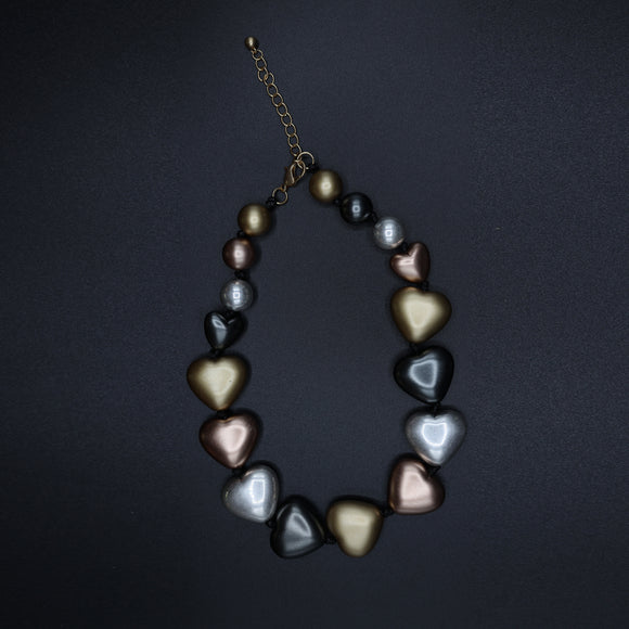 Heart Shaped Beads  Necklace - Vz Collection