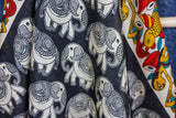 Bohemian Design Elephant Print Silk Scarf - Vz Collection