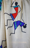 Dancing Girls Indian Silk Scarf - Vz Collection