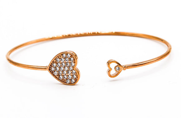 Heart Bangle Bracelet - Vz Collection