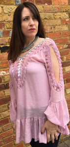 Cotton Top With Hand Crochet Detail