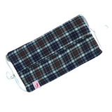 Purple, Brown and White Tartan Print Woollen Face Mask - VzCollection