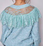 Cardigan with Stunning detail of Chantilly Lace - VzCollection