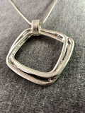 Brush Metal Square Necklace