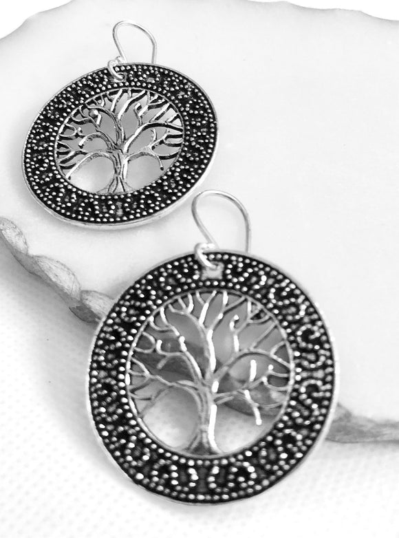 Mounted Tree of Life Earrings - VzCollection