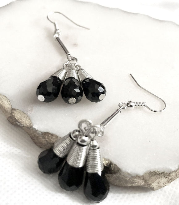 Black Bunch Earrings - VzCollection