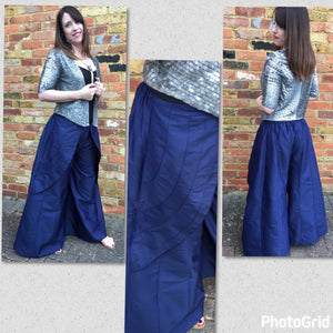 Wide Leg Silk Culottes - VzCollection