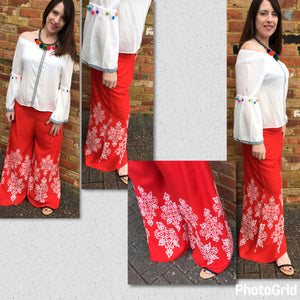 Wide Leg Cotton Culottes - VzCollection