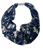 Midnight Shimmer Butterfly Magnetic Scarf - VzCollection