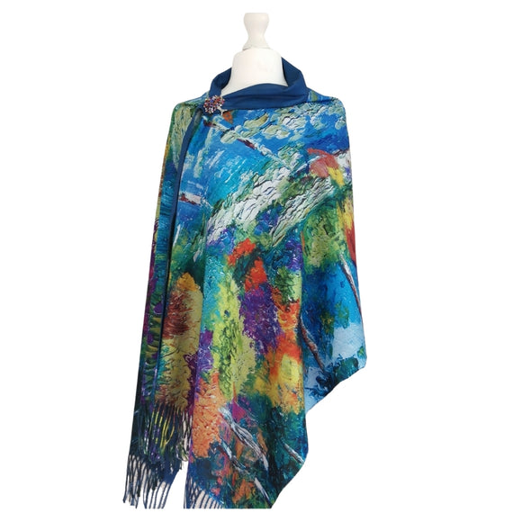 Lake Side Trees Digital Printed Scarf - Vz Collection