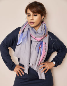 Super Soft Feather Print Scarf - Vz Collection