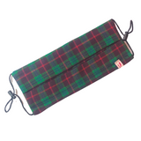 Green and Burgundy with Red and Blue Stripes Tartan Print Woollen Face Mask - VzCollection
