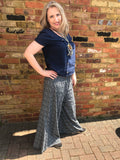 Slate Grey Bohemian Wide Leg Trousers - Vz Collection
