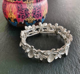 Floral Bead Elasticated Bracelet - Vz Collection
