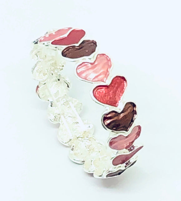 Multi Colour Love Heart Bracelet - VzCollection