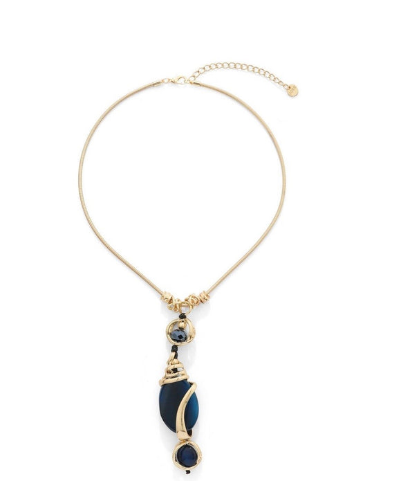 Agate Pearl Drop Necklace - VzCollection