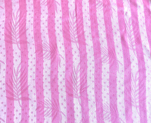 Stripes with Leaves Pattern Pashmina Scarf - VzCollection