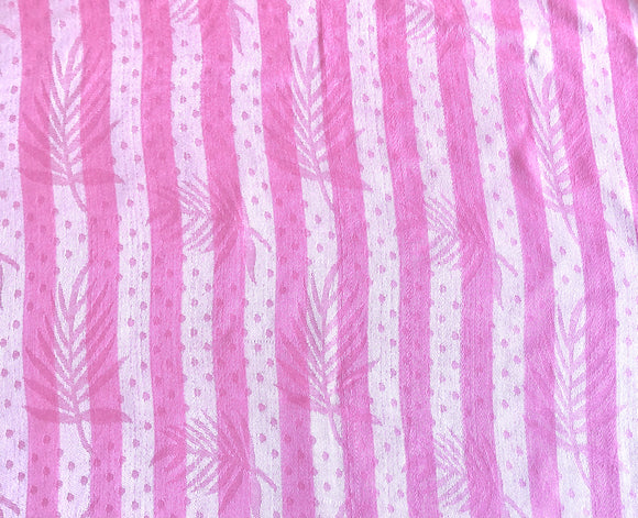 Stripes with Leaves Pattern Pashmina Scarf - Vz Collection