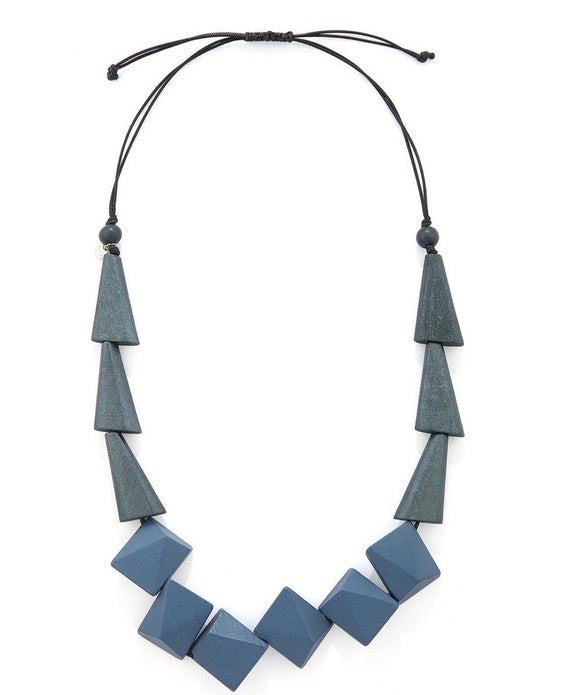 Wooden Geometrical Beads Necklace - VzCollection