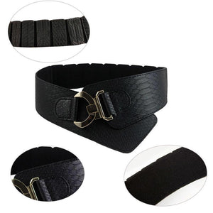 Faux Leather Belt with Elasticated Back - VzCollection