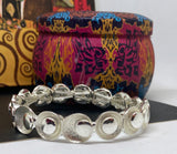 Contemporary Enamelled and Shiny Circular Beads Elasticated Bracelet - Vz Collection