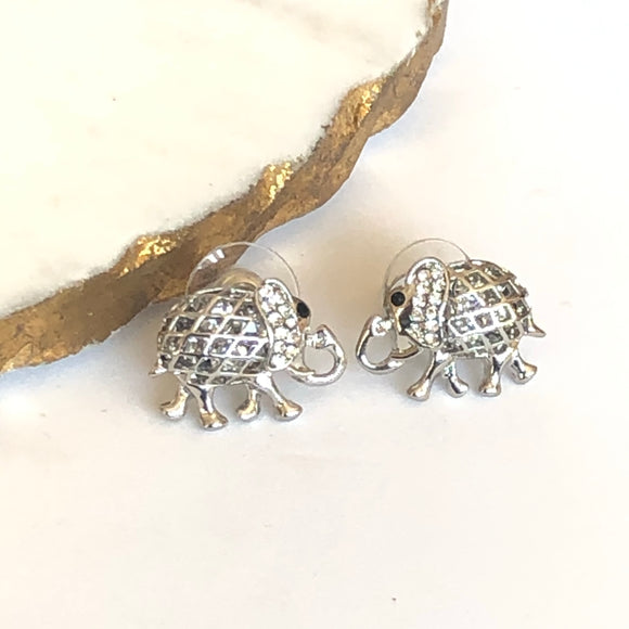 Elephant Earrings with Zirconia - VzCollection