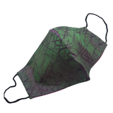 Dual Colour Abstract Print Silk Face Mask - VzCollection