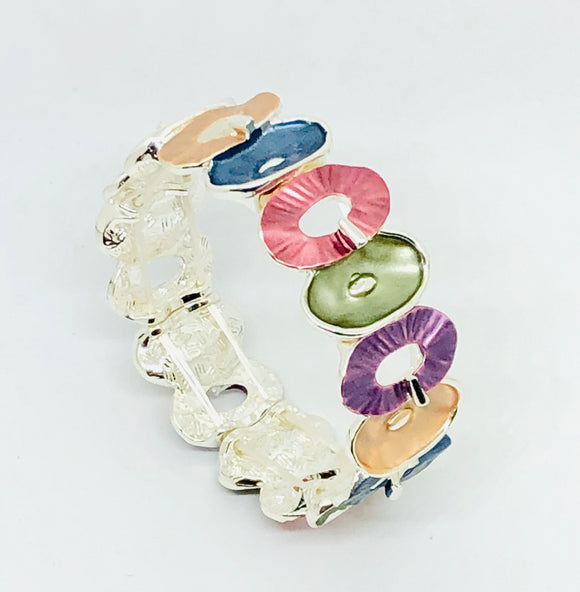 Multi Colour Oval Bracelet - VzCollection