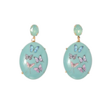 Earrings with Embossed Multicolour Butterfly Print - VzCollection