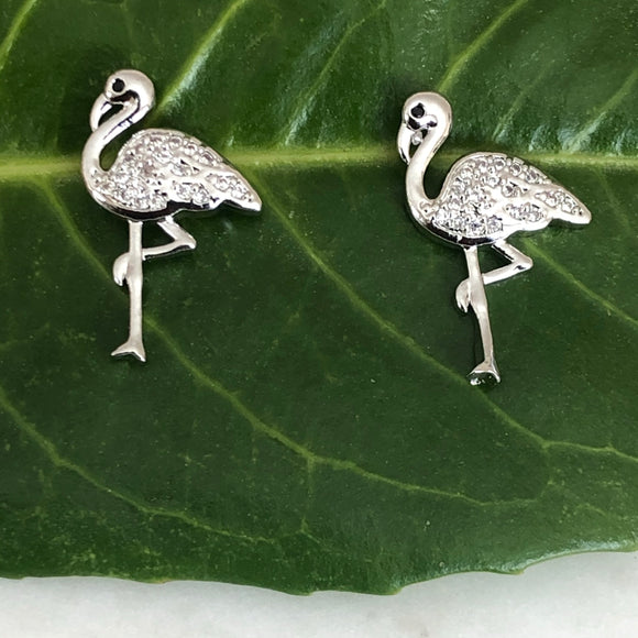 Flamingo Earrings with Zirconia - VzCollection