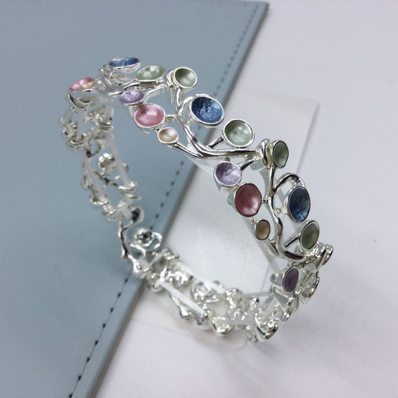Multicolour Enamelled Grapevine Bracelet - VzCollection