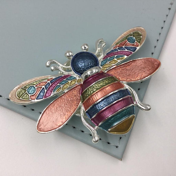 Multicolour Bumblebee Magnetic Brooch - Vz Collection
