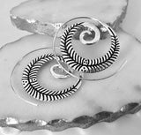 Silver Plated Loop Leaf Earrings