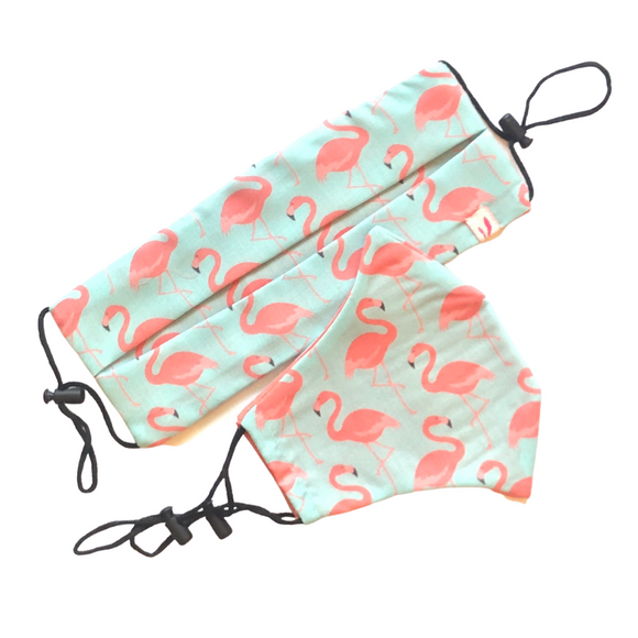 Flamingo Print Cotton Face Mask - Vz Collection
