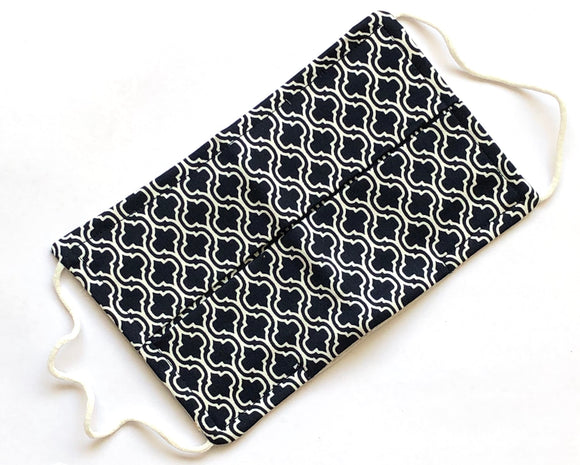 Rectangle Geometric Print Cotton Face Mask - Vz Collection