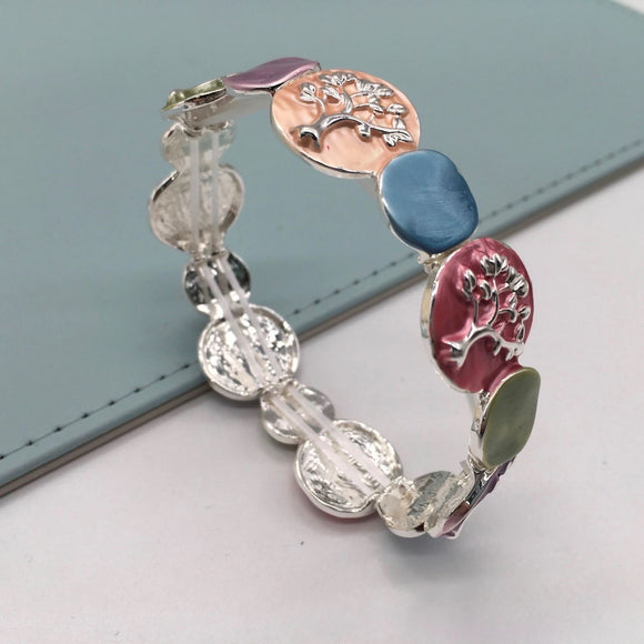 Multicolour Enamelled Tree of Life Bracelet - VzCollection