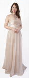 Nude Colour Strapless Ball Gown