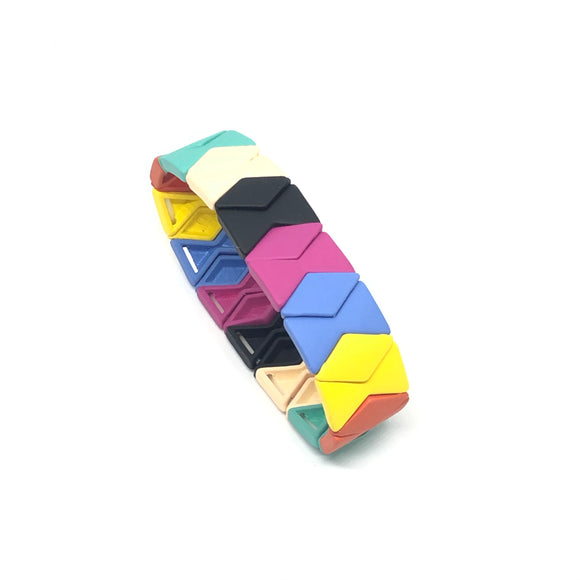 Multi Colour Diamond Shape Bracelet - VzCollection