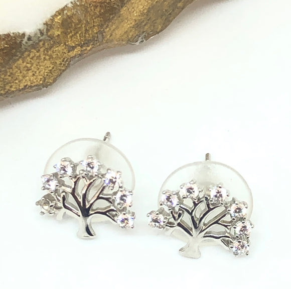 Sterling Silver Tree of Life Earring - VzCollection
