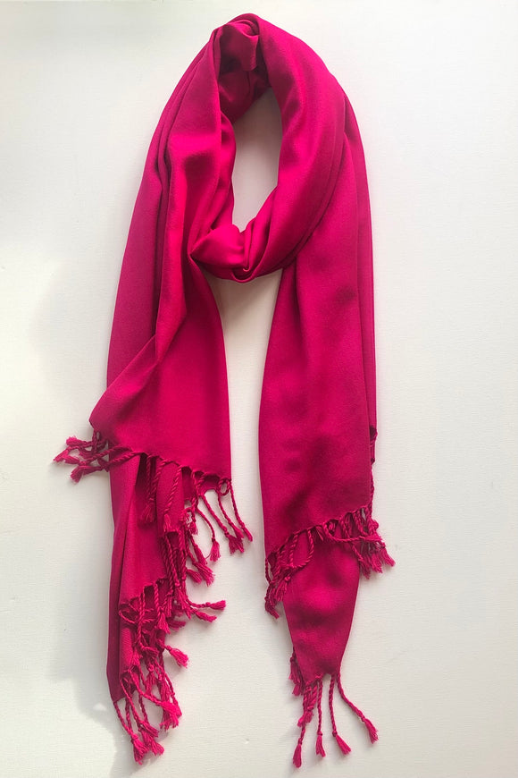 Plain Indian Pashmina Scarf - VzCollection