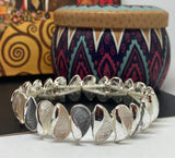 Grey, Nude and Ivory Enamelled Bracelet - Vz Collection