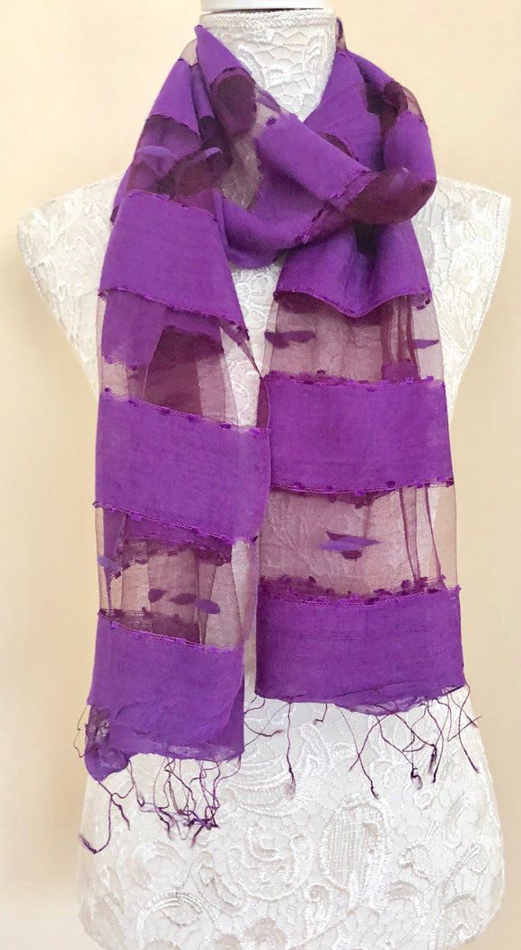Glass Silk Scarf - Purple