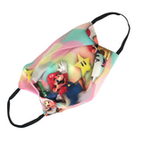 Super Mario Print Reversible Kids Cotton Face Mask - Vz Collection