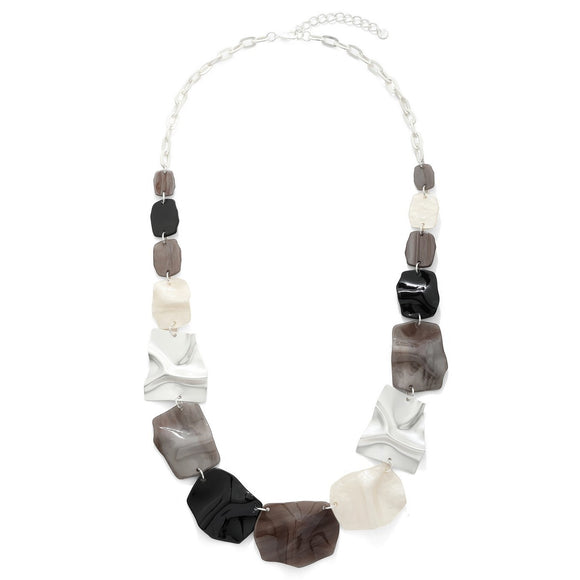 Abstract Shaped Beads Long Necklace - Vz Collection