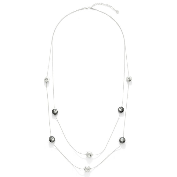 Diamante Beaded Long Necklace - VzCollection