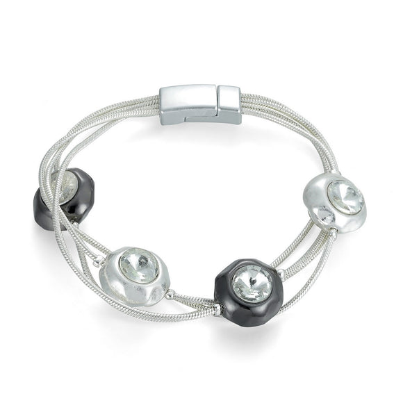 Diamante Beaded Magnetic Bracelet - VzCollection