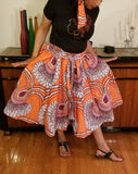 African Short Skirt Orange