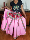 Dashiki Long Skirt Pink