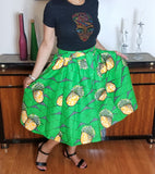 Green Gold Short Skirt